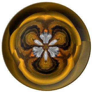 Chic Chestnut Flower Decorative Porcelain Plate 磁器プレート