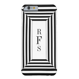 CHIC_IPHONE CASE_BLACKはW/MONOGRAMを縞で飾ります BARELY THERE iPhone 6 ケース