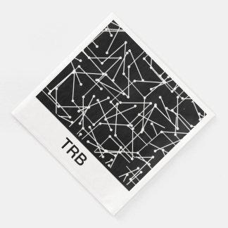 CHIC MOD WHITE GEOMETRIC WITH MONOGRAM_DIY