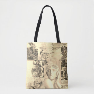 Chic retro collage  bag for beach or shopping トートバッグ