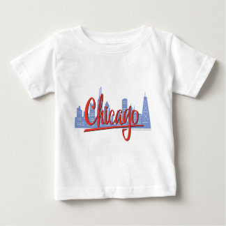CHICAGO-RED ベビーTシャツ