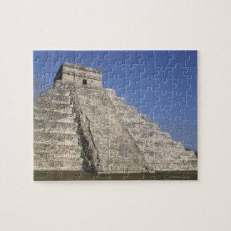 Chichen ItzaのKukulcansのピラミッドのマヤの台なし ジグソーパズル