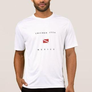 Chichen Itzaメキシコのスキューバ飛び込みの旗 Tシャツ
