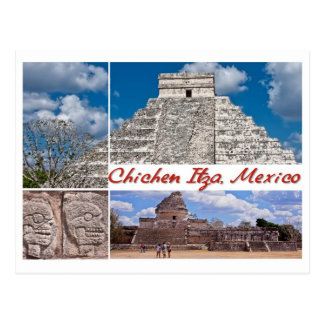 Chichen Itza、メキシコからの郵便はがき ポストカード