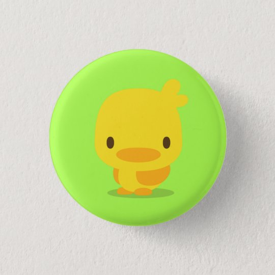 chick : yellow green : pins 3.2cm 丸型バッジ
