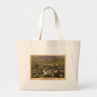 Chickahominyの川の戦いを示すリッチモンド ラージトートバッグ