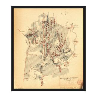 Chickamauga 1863年9月19日及び20日の内戦の戦い キャンバスプリント