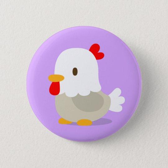 chicken : purple : pins 5.7cm 丸型バッジ