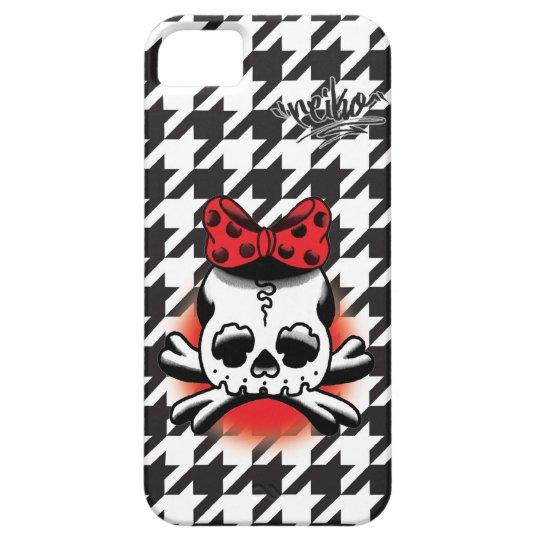 Chidori Check Dokuro-Chan Black iPhone SE/5/5s ケース