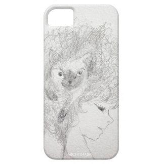 Chii青緑色猫の毛 iPhone SE/5/5s ケース