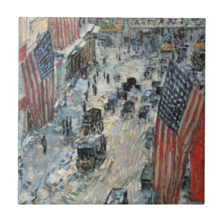 Childe Hassamのヴィンテージの芸術著第57通りの旗 タイル