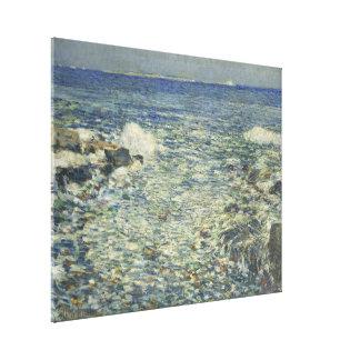 Childe Hassam -波、群れの島 キャンバスプリント