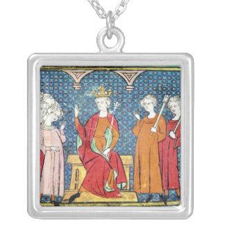Childeric IIのAustrasiaのMerovingian王 シルバープレートネックレス
