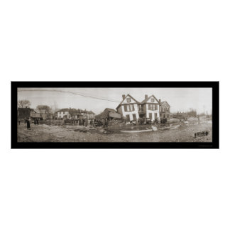 Chillicotheオハイオ州の洪水の写真1913年 ポスター