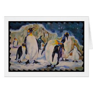 Chillinのペンギンの挨拶状 カード