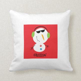 Chillinの雪だるまの枕 クッション
