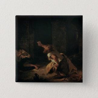 Chillon 1834年の囚人 5.1cm 正方形バッジ