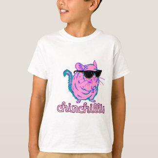 Chinchillinのネオンピンクのチンチラ Tシャツ