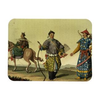 Chingのmilitaからのモンゴル人8の旗の兵士 マグネット