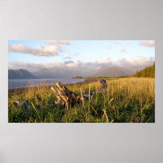 Chinitna湾-アラスカの国立公園 ポスター