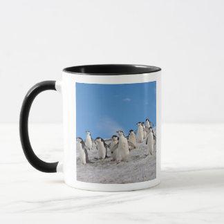 chinstrapのペンギン、Pygoscelis南極大陸、 マグカップ
