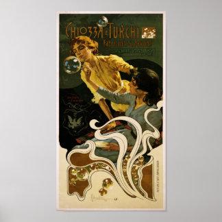 Chiozza e Turchi、fabricants de savons、Pontelago ポスター