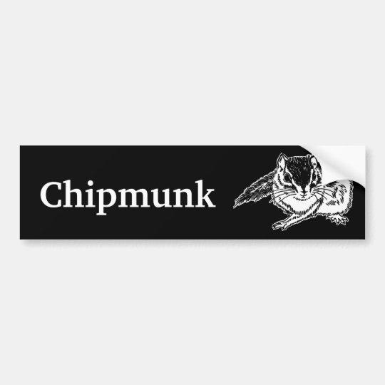 chipmunk 2 (rough sketch) バンパーステッカー