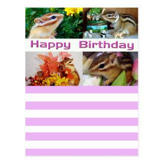 Chipmunk , Birthday , Holiday , Cristmas (photo) ポストカード