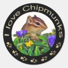 Chipmunk_ Circle_20 ラウンドシール