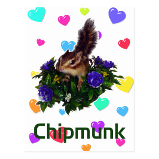 Chipmunk & flower 1 ポストカード