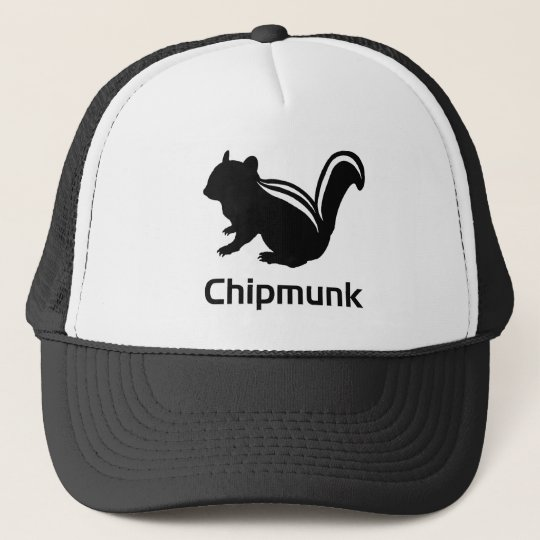Chipmunk illustration (12) Black キャップ