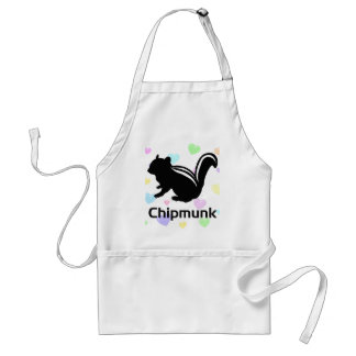 Chipmunk illustration (12) Black スタンダードエプロン