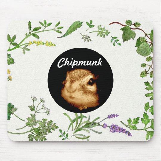 chipmunk's face (photograph) マウスパッド