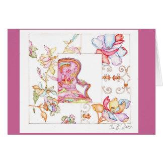 Chippendaleのスタイルの挨拶状 カード