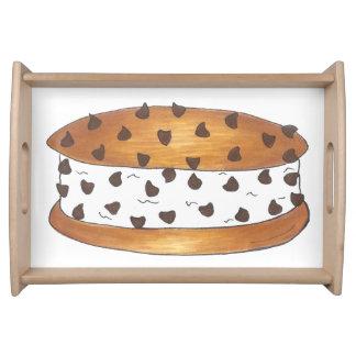 Chipwichのチョコチップクッキーのアイスクリームサンドイッチ トレー
