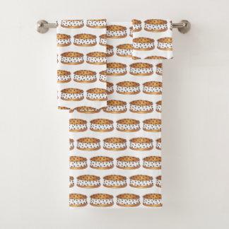 Chipwichのチョコチップクッキーのアイスクリームサンドイッチ バスタオルセット