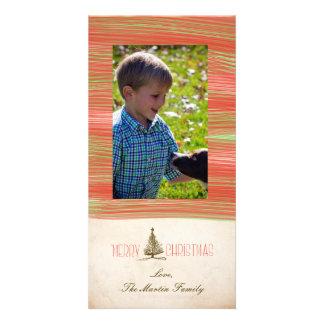 Chirstmasのメリーな手描きの木 カード