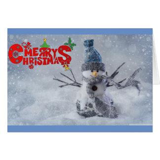 Chirstmasのメリーな雪だるま カード