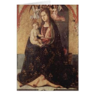 Chirstmas -マドンナ及び子供Antonello daメッシーナ カード