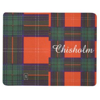 Chisholmの一族の格子縞のスコットランド人のタータンチェック ポケットジャーナル