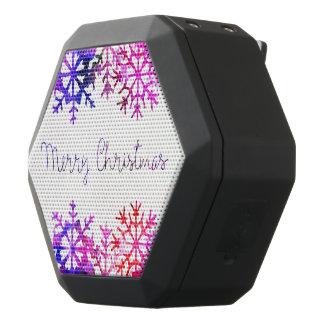 Chistmasの紫色およびピンクのメリーな雪片 ブラックBluetoothスピーカー