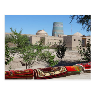 Chiwa, Khiva Blick zum Kalta-Minor-Minarett ポストカード