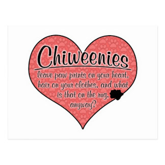 Chiweenieの足は犬のユーモアを印刷します ポストカード