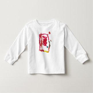 Chloeの赤い嵐の長袖の幼児T トドラーTシャツ