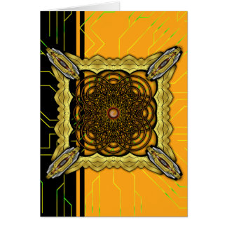 Chocoのカラメルが付いているデジタルによって育てられるプレッツェルの花 カード
