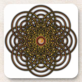 Chocoのカラメルが付いているデジタルによって育てられるプレッツェルの花 コースター