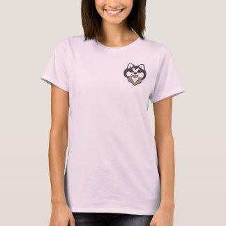 Chocoの柴犬の心地よいのティー(ピンク) Tシャツ
