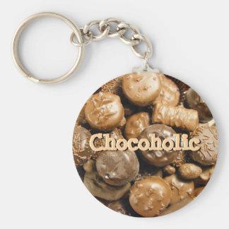 Choco-holic Keychain ベーシック丸型缶キーホルダー