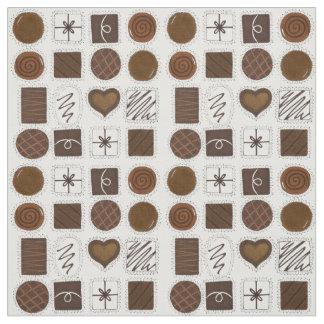 Chocoholicチョコレート箱のバレンタインデーの生地 ファブリック