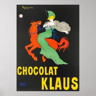 Chocolat Klaus Leonetto Cappielloのヴィンテージポスター ポスター